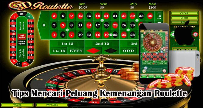 Tips Mencari Peluang Kemenangan Roulette